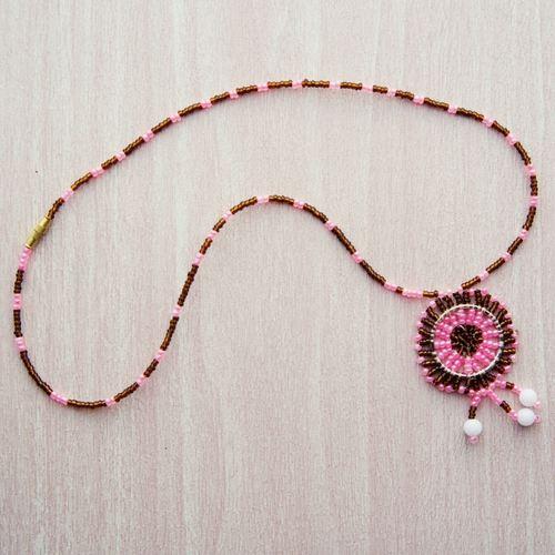 Round Pendant Maasai Beaded Necklace
