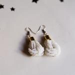 White Masaai Handmade Earring