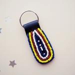 Masai Beaded Keychain
