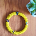 Yellow Maasai handmade Bangle