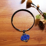 Dark Blue masai beaded necklace