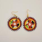 Cute Round Shape  Masai beaded Earring  tribal jewelry.