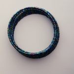 Shinny Maasai Beaded Coil Bracelet