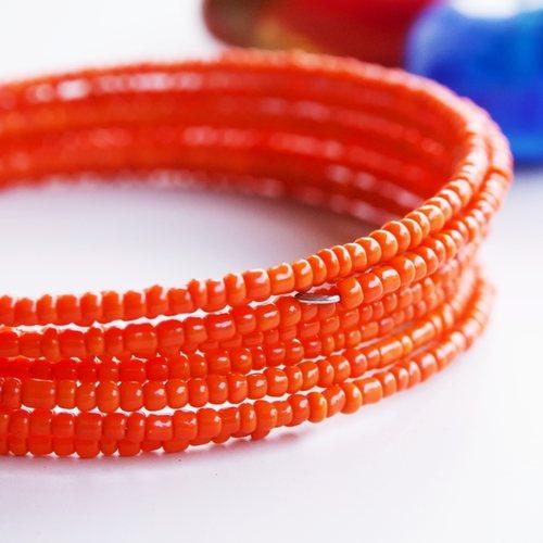 Orange Spiral Maasai Bangle