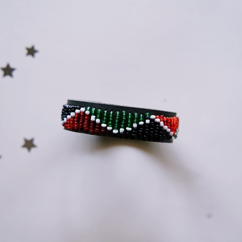 African EthnicTribal Masai Bead Leather Bracelet