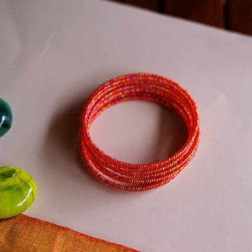 Spiral Masai Beaded bangle