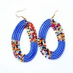 Elegant blue Colour Beaded Earring