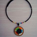 Round Pendant Multicolour Maasai Beads Necklace