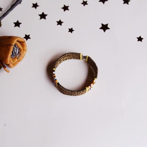 Golden Maasai Beaded  Bracelet