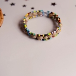 african beaded seeded bangle