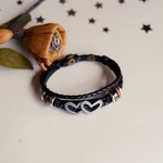 African Classic Men Wristband  Leather