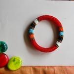 Red and Multicolour Colour Bangle