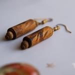 Traditional wooden Maasai Earrings