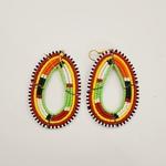 Elegant multicolour Maasai Beaded Earring