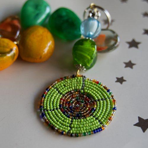 Maasai Beaded keychain