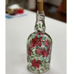 Hand-painted Glass Bottle