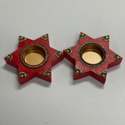 Star Diya - Pair