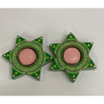 Wooden Star Diyas