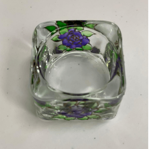 Square Glass Candle Holder