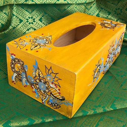 Yellow Tissue box - Heena design
