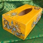 Yellow Tissue box - Heena design