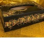Black Tissue box - Henna art