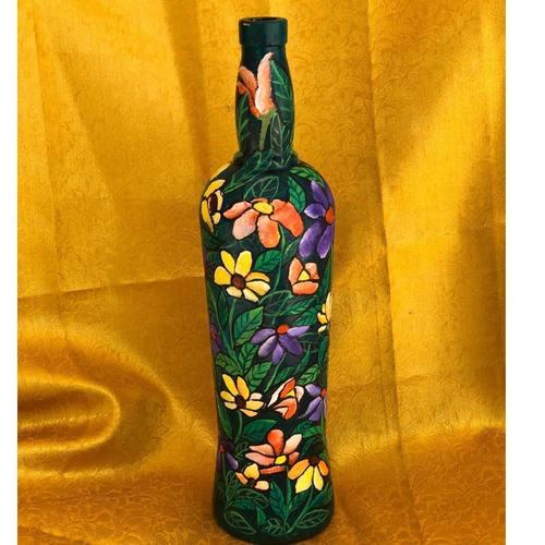 Glass Bottle Handpainted