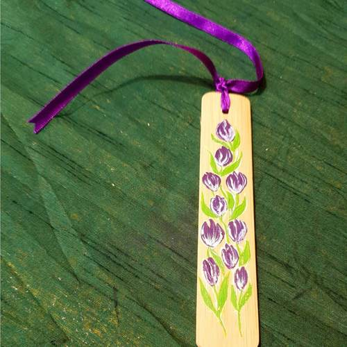 Wooden Hand Painted Bookmarks