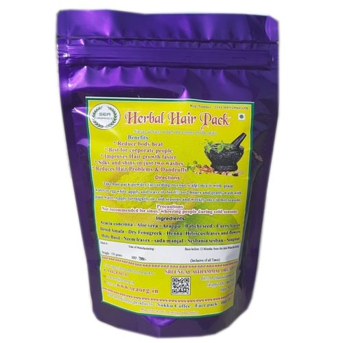 SEA HERBAL HAIR PACK - Reduces body heat, hair problems and dandruffs, improves hair growth, silky and shiny