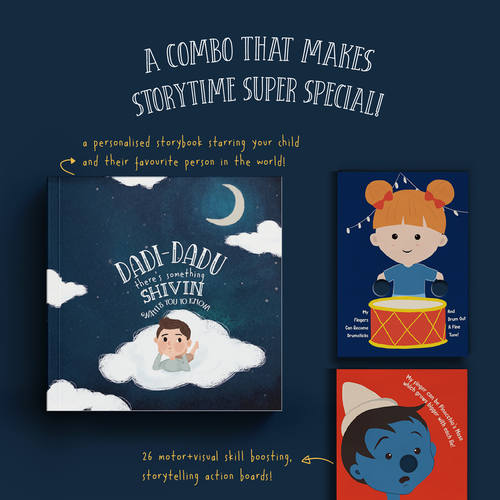 The Storytellers A Story Boards & Personalised Storybook Combo
