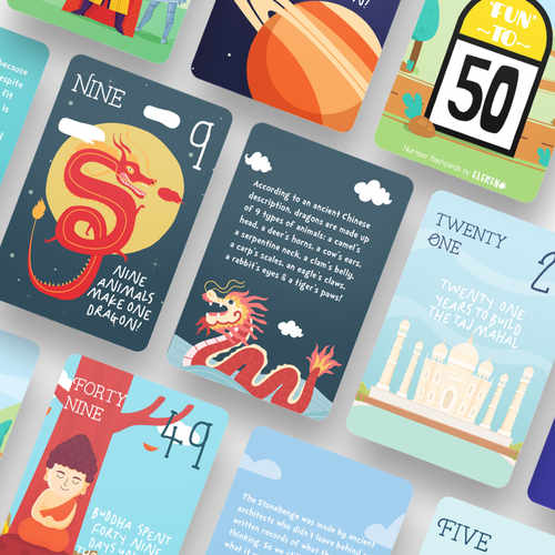 Fun to Fifty - 1-50 Number Flashcards