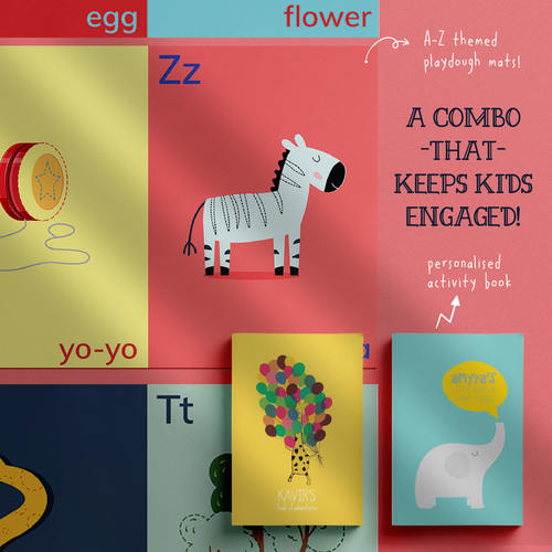 A for Alphabet, B for Book An Interactive learn-through-play Combo
