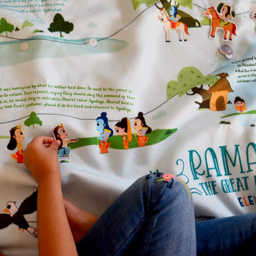 The Ramayan Activity Mat - A giant, interactive activity mat that brings this great Indian epic to life