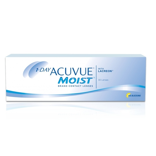 1 Day Acuvue Moist daily disposable contact lenses