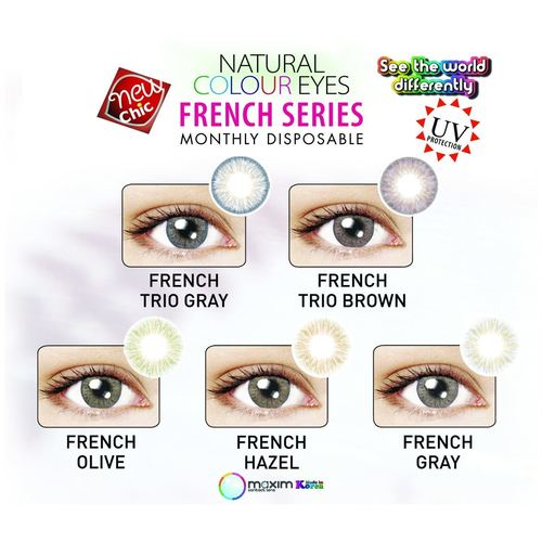 Maxim Monthly Color Disposable contact lenses French Series pink box