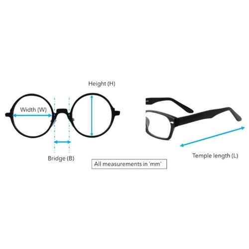 Prince Clip-On eyeglass PS100  Blue Mercury