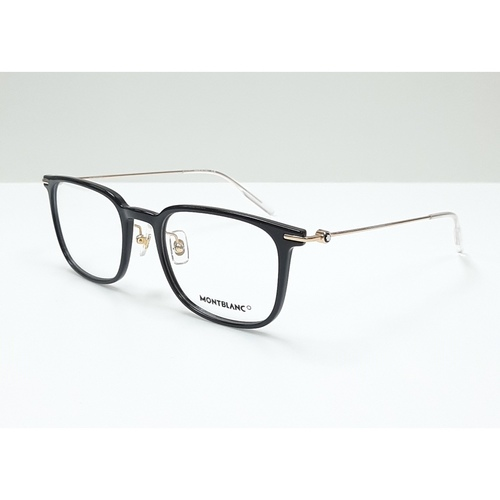 MontBlanc spectacle frame 0100O Black with Gold temples
