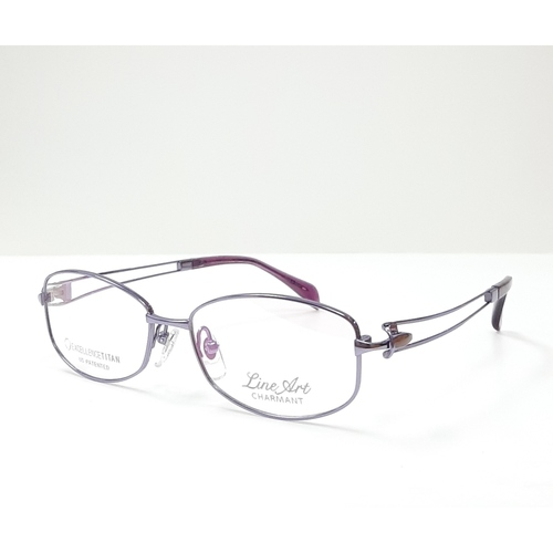 CHARMANT LINEART Ladies spectacle frame Purple color