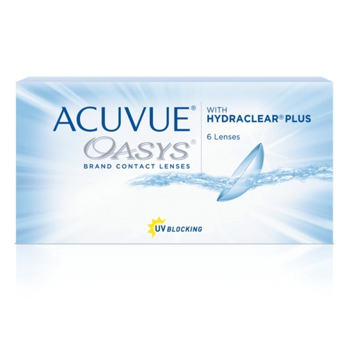 Acuvue Oasys biweekly disposable contact lenses