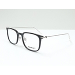 MontBlanc spectacle frame 0100O Black with Silver temples