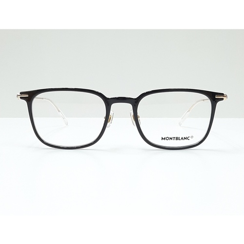 MontBlanc eyewear 0100O Black with Gold temples