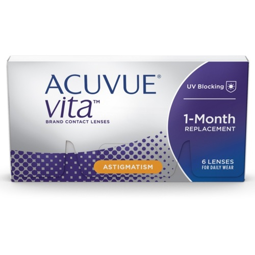 Acuvue Vita for Astigmatism monthly disposable contact lenses
