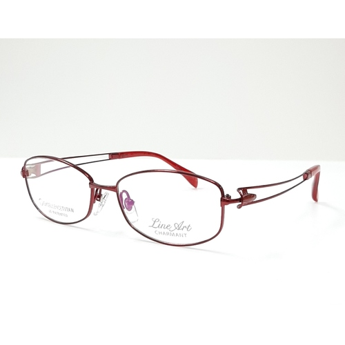 CHARMANT LINEART Ladies spectacle frame Red color