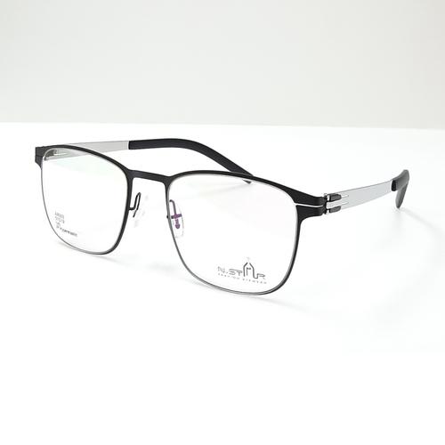 N STAR spectacle frame AR303 Black-Silver color
