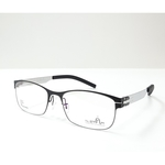 N STAR spectacle frame A217 Black-Silver color