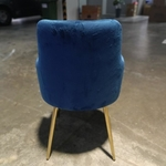 LADA Armchair in BLUE VELVET and GOLD FRAME