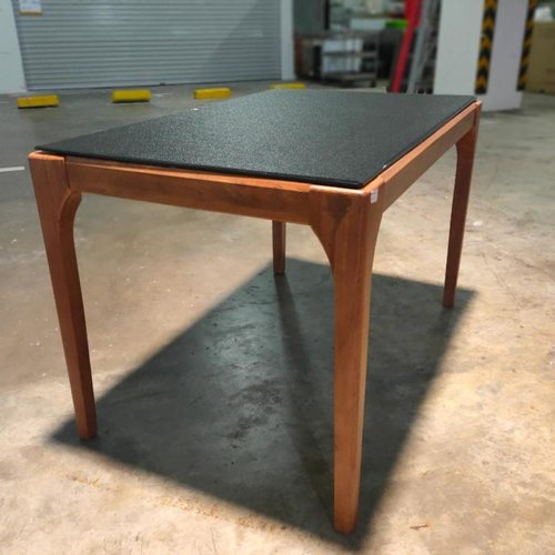 STEINER Dining Table with Tempered Glass Top