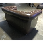 PRE-ORDER SALVADORE X 2 Seater Chesterfield Sofa in DARK COCO BROWN - Estimated Delivery in Early Nov 2021