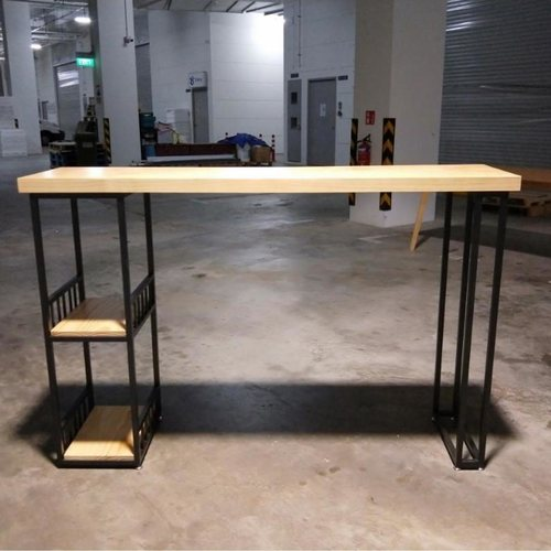 ION INDUSTRI Series Solid Wood Bar Table