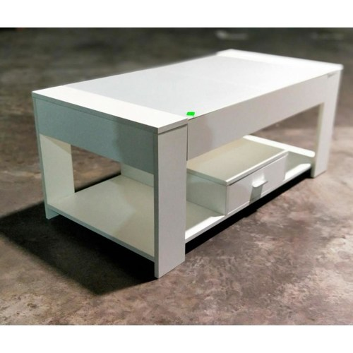 TEVEL Modern Tempered Glass Coffee Table